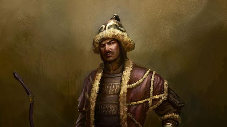 "Genghis Khan in ""Deadliest Warriors."""