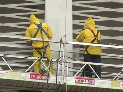 Cleaning Begins for Famed Houston Astrodome
