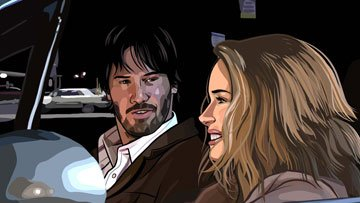 Keanu Reeves and Winona Ryder in Warner Independent Pictures' A Scanner Darkly