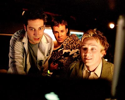 Adam Busch, Danny Strong and Tom Lenk of Buffy The Vampire Slayer 