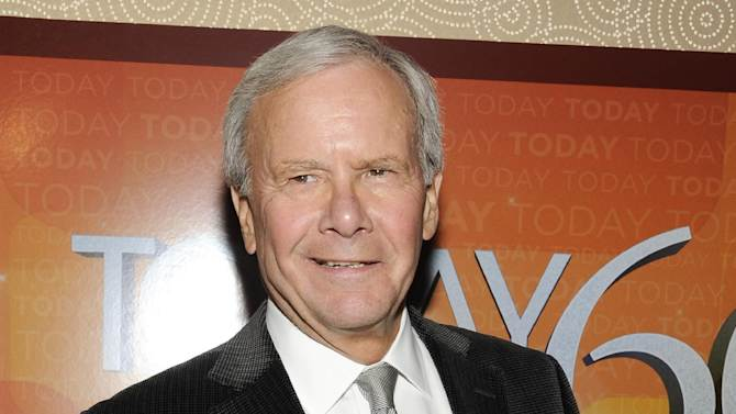 """FILE - This Jan. 12, 2012 file photo shows NBC News special correspondent and former """"Today"""" show host Tom Brokaw attending the """"Today"""" show 60th anniversary celebration at the Edison Ballroom in New York. Brokaw was taken to a Charlotte, N.C., hospital Thursday morning after appearing on MSNBC's """"Morning Joe."""" The network says Brokaw felt """"light-headed"""" on the set of the news-talk program, which has been originating this week from Charlotte. """"Out of an abundance of caution,"""" he was taken to the hospital, which was not identified. He was being evaluated and """"is in good spirits,"""" NBC said. (AP Photo/Evan Agostini, file)"""