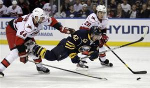 Pominville gives Sabres' 3-2 OT win over 'Canes
