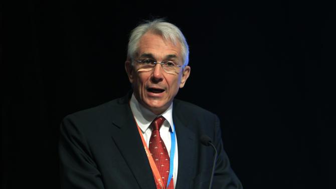 Chief Executive and Director General of the International Air Transport Association (IATA) Tony Tyler speaks during the IATA Ops Conference in Kuala Lumpur, Malaysia, Tuesday, April 1, 2014. (AP Photo/Lai Seng Sin)