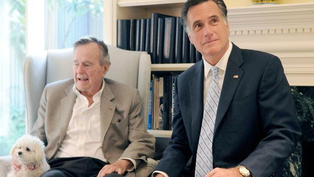 George H.W. Bush Officially Endorses Romney, Tells Rivals They've Got To Know 'When To Fold 'Em'