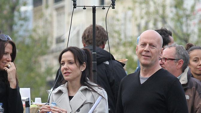 Spotted on Set, Bruce Willis and Mary Louise Parker