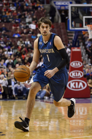 Alexey Shved could go from the end of the Wolves' bench to the Sixers' starting lineup. (Howard Smith-USA TODAY Sports)