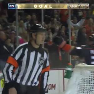 Corey Perry Goal on Jonas Hiller (05:04/2nd)