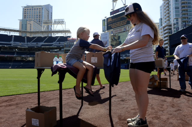 Mercury Insurance and the San Diego Padres kick-off the Fourth of July celebration with a salute to U.S. troops stationed in Afghanistan by assembling...