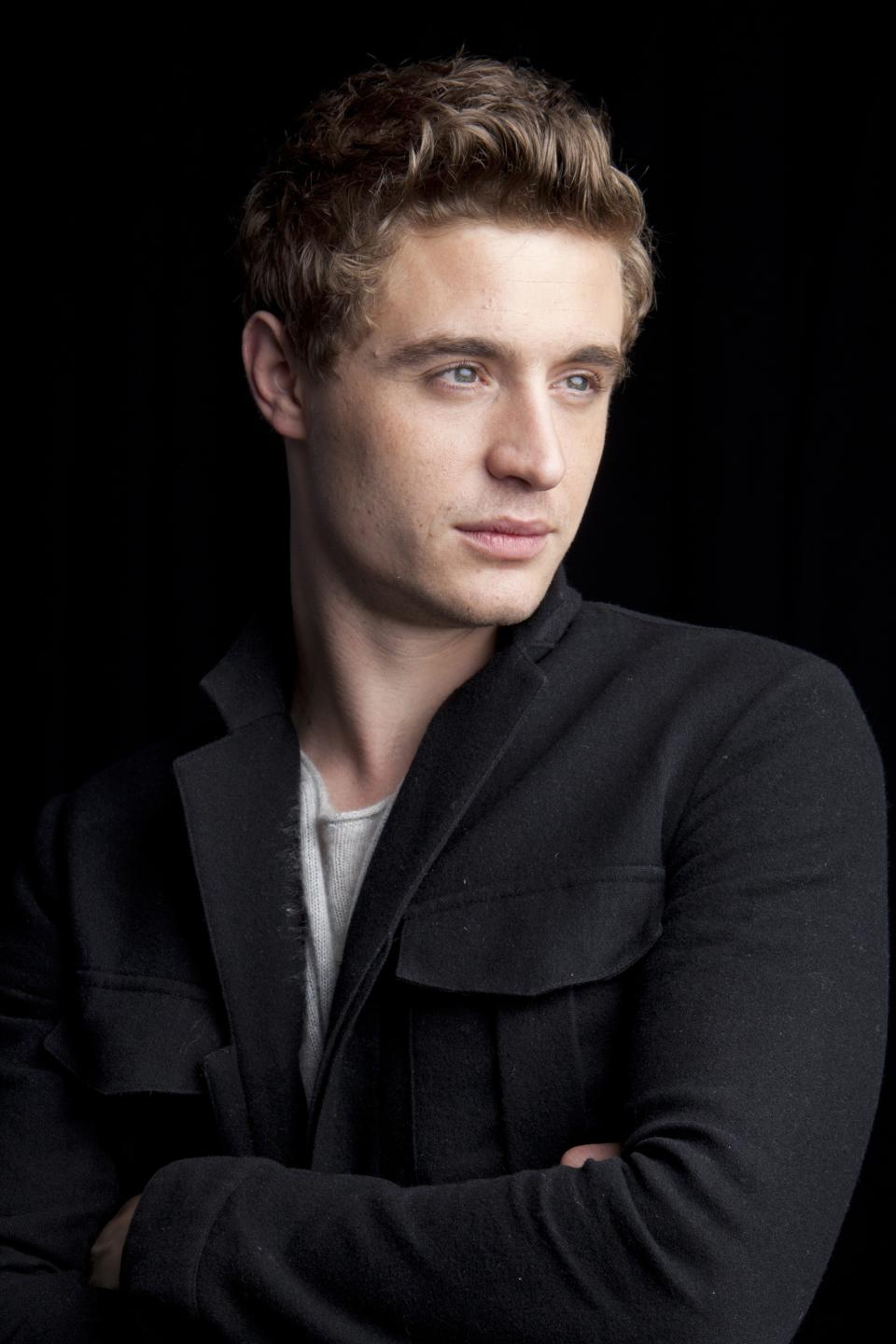 "This June 3, 2013 photo shows Max Irons from the Starz original series ""The White Queen,"" posing for a portrait in New York. ""The White Queen"" premieres Aug. 10 at 8 p.m. EST (Photo by Amy Sussman/Invision/AP)"