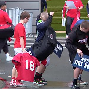 Seahawks Welcome Marysville-Pilchuck Team