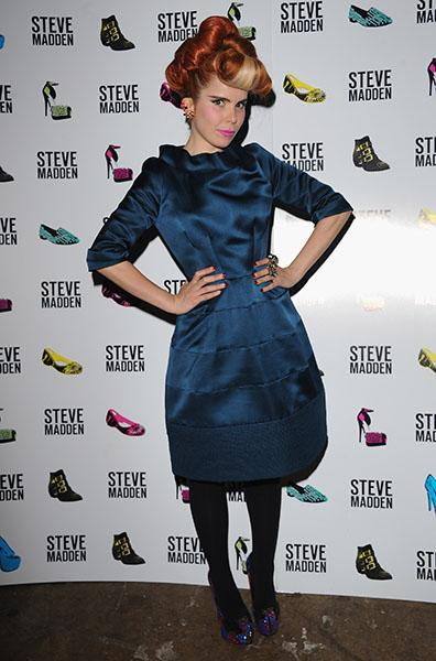 At a Steve Madden event in London, October 2012