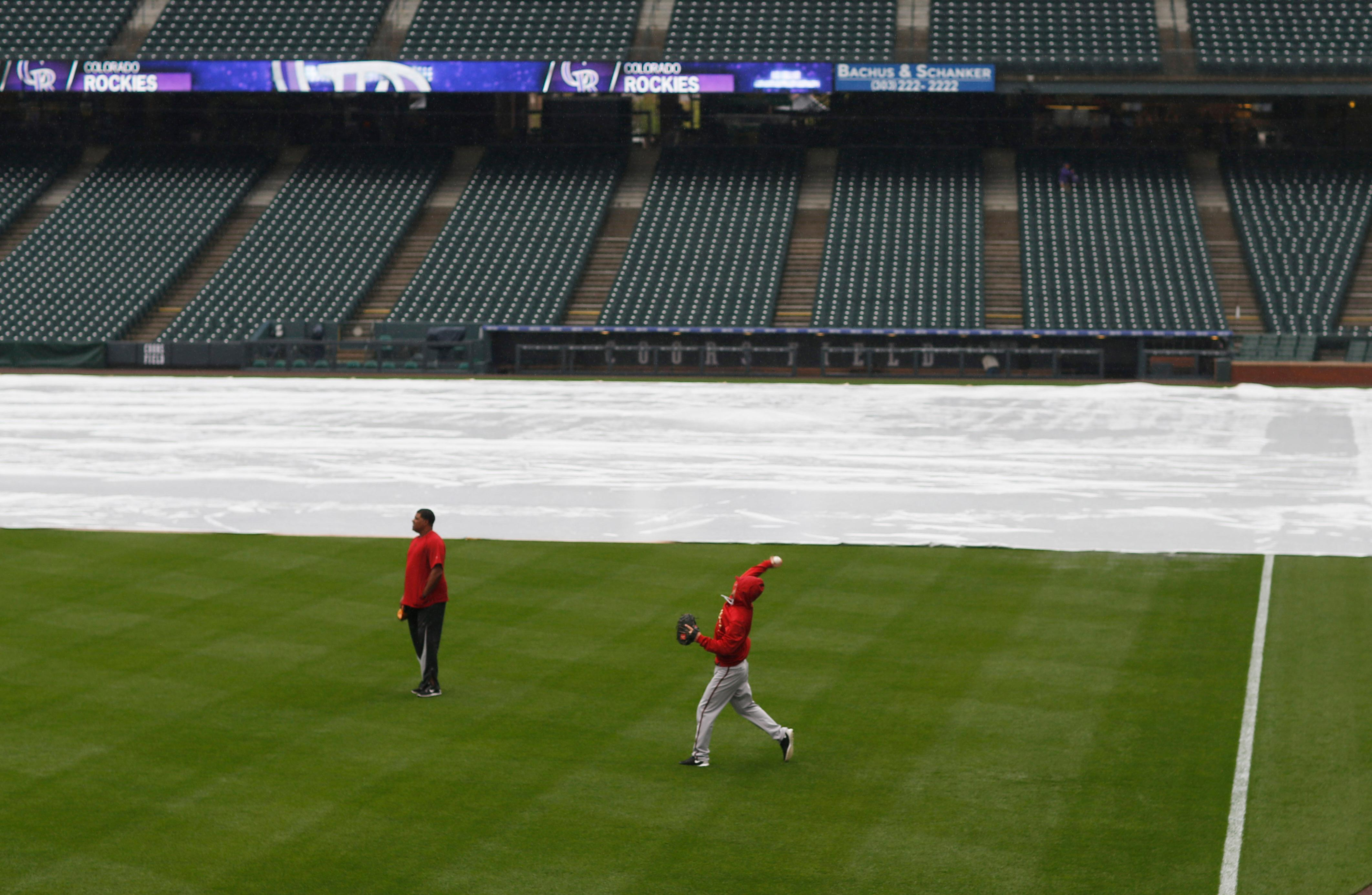 Diamondbacks and Rockies rained out, doubleheader Wednesday
