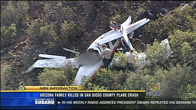 Arizona family killed in San Diego County plane crash
