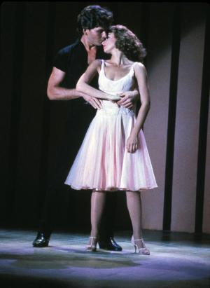 """In this undated file photo provided by Lionsgate Home Entertainment, actors Patrick Swayze, portraying Johnny Castle, and Jennifer Grey, portraying Baby Houseman, are shown in a scene from the film, """"Dirty Dancing."""" (AP Photo/Lionsgate Home Entertainment, File) ** NO SALES **"""