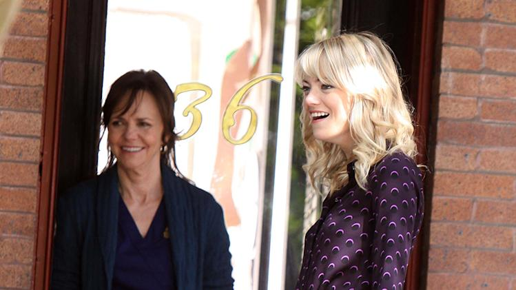Emma Stone and Sally Field at