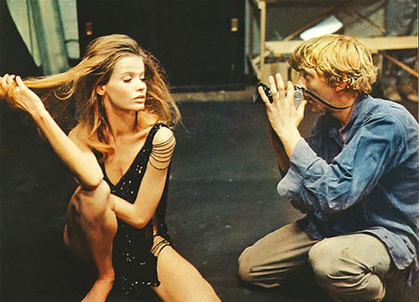 "With David Hemmings in the movie ""Blowup"""