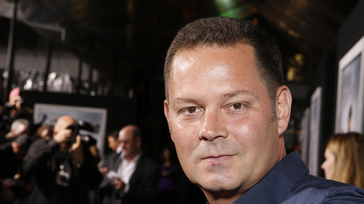 """Producer Kevin Messick arrives at the premiere of """"Hansel & Gretel Witch Hunters"""" on Thursday Jan. 24, 2013, in Los Angeles.  (Photo by Todd Williamson/Invision/AP)"""