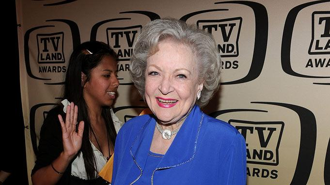 Betty White backstage at the 8th Annual TV Land Awards at Sony Studios on April 17, 2010 in Culver City, California.