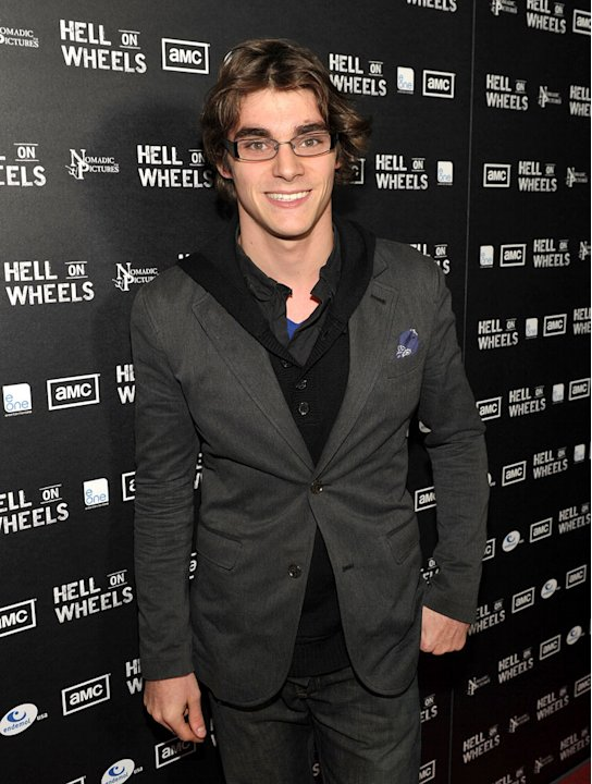 RJ Mitte arrives at the premiere of AMC's &quot;Hell on Wheels&quot; at LA Live on October 27, 2011 in Los Angeles, California. 