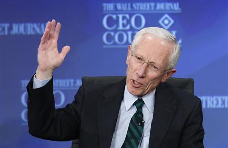 Former Israel Bank Governor Fischer speaks at the Wall St. Journal CEO Council annual meeting in Washington