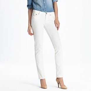 White Straight-Cut Jeans from J. Crew