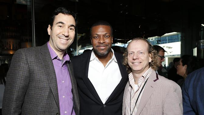 Jonathan Gordon, Chris Tucker and Bruce Cohen attend the Film Independent Spirit Awards Luncheon at BOA Steakhouse on Saturday, Jan. 12, 2013, in West Hollywood, Calif. (Photo by Todd Williamson/Invision/AP)