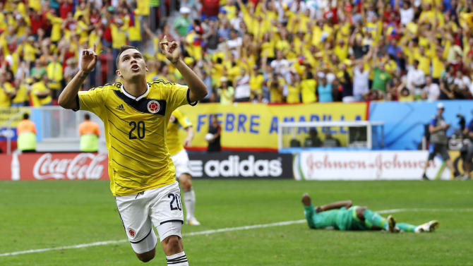 Colombia beats Ivory Coast, secures 2nd-round spot