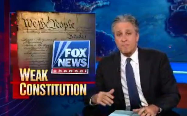 Jon Stewart Takes Fox News to Warp Speed on Boston Bombing Trial