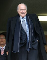 Sepp Blatter believes the success of the Olympics shows England could host a World Cup