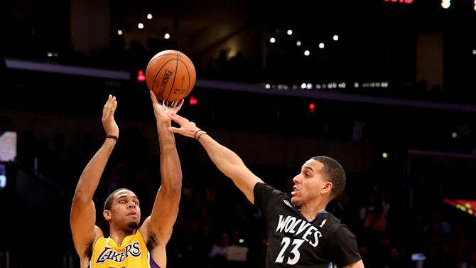 Lakers outlast Timberwolves 104-91