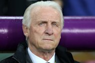 Republic of Ireland head coach Giovanni Trapattoni was impressed with his side's new goalkeeper