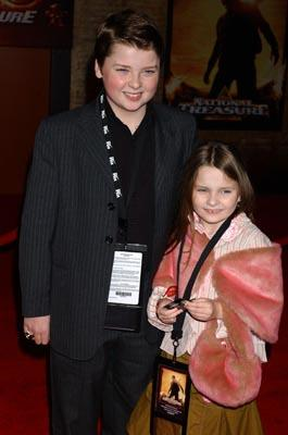 Spencer Breslin and Abigail Breslin at the LA premiere of Touchstone's National Treasure