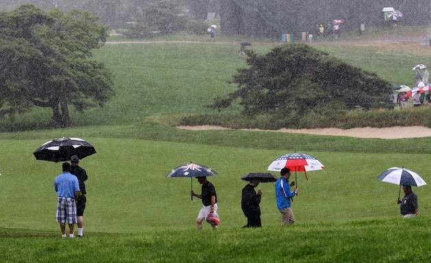 U.S. Open: Evening rains arrive, driving afternoon golfers from Merion