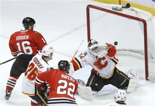 Blackhawks shut out Flames 2-0