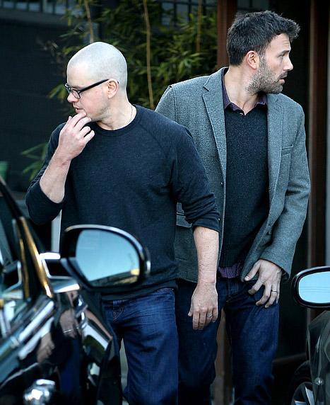 PICTURE: Bald Matt Damon, Ben Affleck Reunite to Plan New Movie