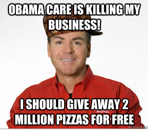 Papa John's Gets Bludgeoned by Memes for Obamacare Stance