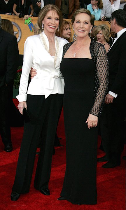 Mary Tyler Moore and Julie Andrews at the 13th Annual Screen Actors Guild Awards.