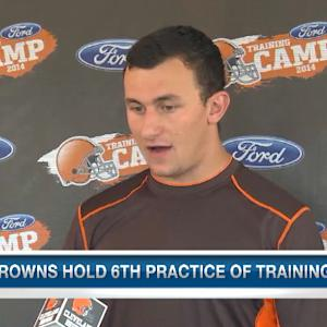 Johnny Manziel talks Cleveland Browns QB battle