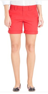 "Tommy Hilfiger Women's ""9.5"" Solid Chino Short $34"