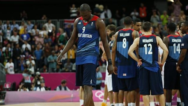 Great Britain&#39;s Luol Deng walks off the court after losing to Spain (Reuters)