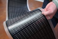 "File photo of a ""thin film"" of solar cells at the National Renewable Energy Laboratory (NREL) in Golden, Colorado. The United States decided in May to slap hefty anti-dumping duties on Chinese solar cell makers, which Beijing blasted as ""protectionist"""