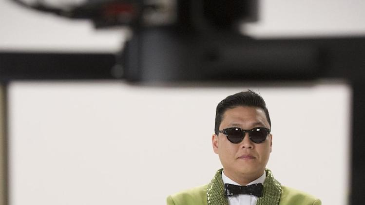 "This screenshot provided by Paramount Farms shows Psy filming  the Super Bowl advertisement for first-time advertiser Paramount Farms' Wonderful Pistachios brand of nut. The 30-second ad in the third quarter presents the company's ""Get Crackin'"" campaign that stars the Korean pop sensation Psy. (AP Photo/Paramount Farms)"