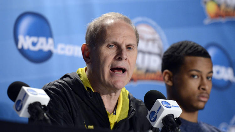 NCAA Basketball: NCAA Tournament-Michigan Practice
