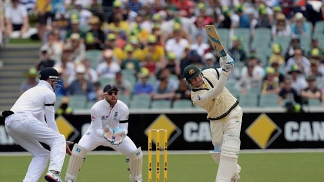 Michael Clarke took the initiative against England at Adelaide