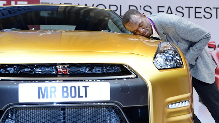 Usain Bolt Visits Nissan Headquarters
