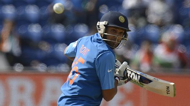 India's Rohit Sharma scored 141 not out (Reuters)