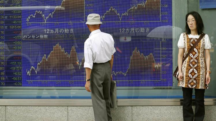 Asian stock markets eke out slight gains