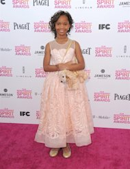 Actress Quvenzhane Wallis arrives at the Independent Spirit Awards on Saturday, Feb. 23, 2013, in Santa Monica, Calif. (Photo by Jordan Strauss/Invision/AP)