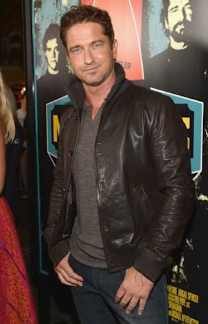 Gerard Butler arrives to the premiere of 20th Century Fox's 'Chasing Mavericks' in Los Angeles on October 18, 2012  -- Getty Images