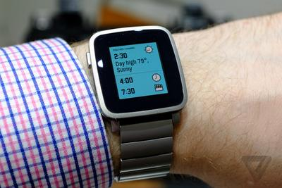 Pebble Time Steel is a dressed-up version of Pebble's latest watch